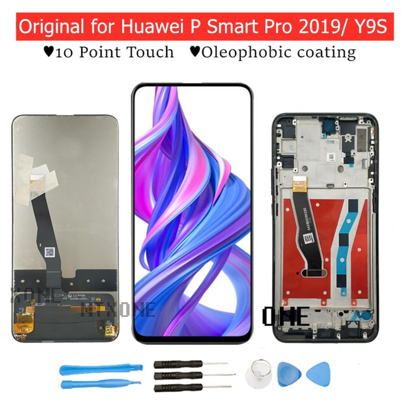 Оригинальный ЖК-дисплей для Huawei Y9S/ P Smart Pro 2019, рамка, дигитайзер сенсорного экрана в сборе, запасные части для ремонта сенсорного ЖК-экрана