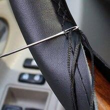 Presente volante universal profissional carro couro 38cm diy mão