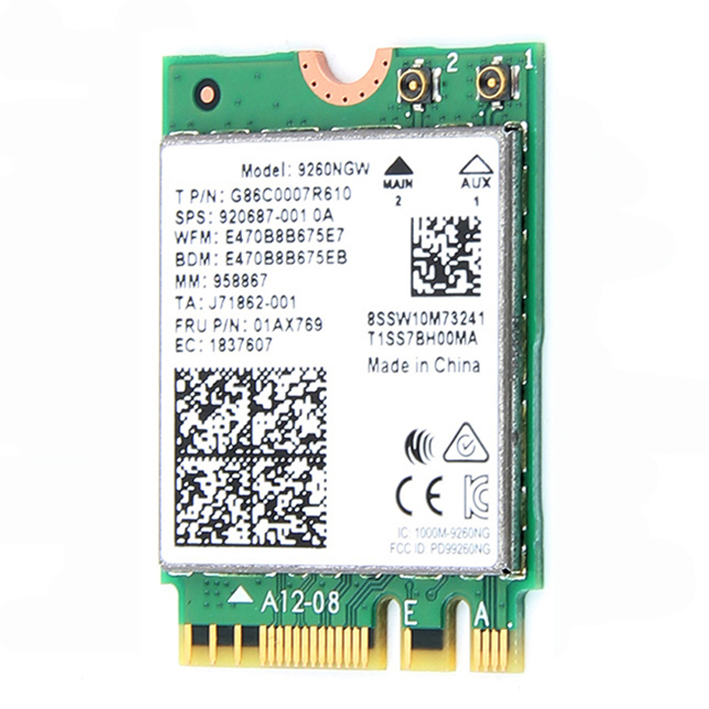 Image 3 - 1.73Gbps Wireless Card NGFF Network Card For Intel 9260 2.4G/5Ghz 802.11ac  Bluetooth 5.0 for Laptop Windows 10wifi network cardnetwork cardwifi network -
