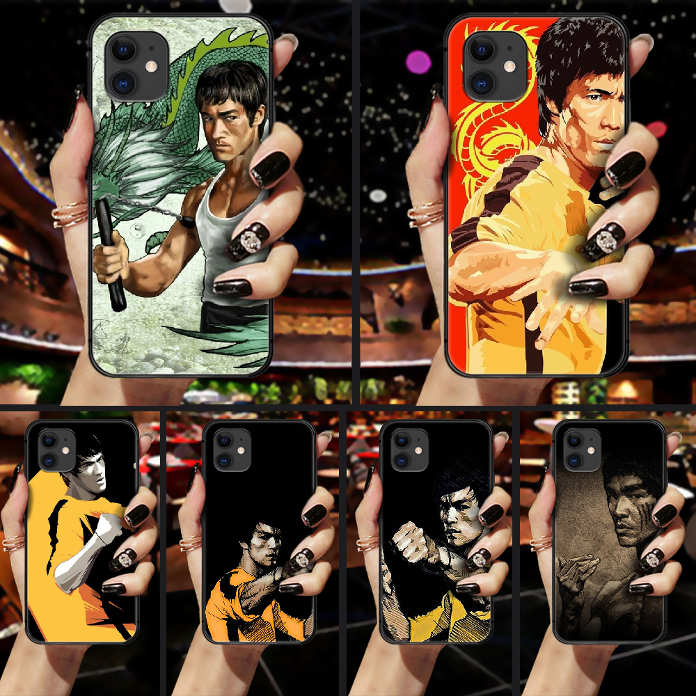 Bruce Lee Phone Case Cover Hull For iphone 5 5s se 2 6 6s 7 8 plus X XS XR 11 PRO MAX black shell trend funda soft cover 3D