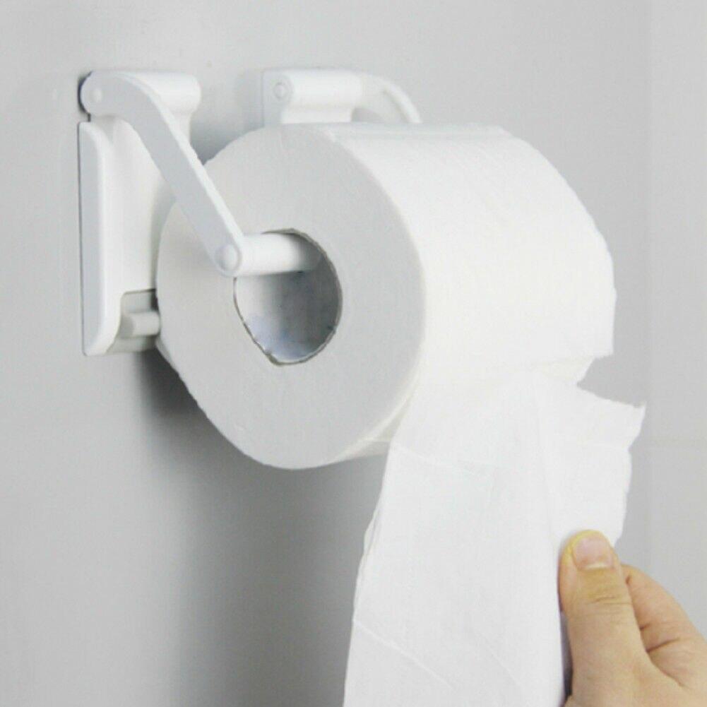 Adjustable Magnetic Organizer Easy Install Dispenser Storage Tissue Wall Mount Paper Holder Roll Shelf Toilet Towel Household