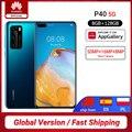Globale Version Huawei P40 5G Smartphone Kirin 990 8GB 128GB 50MP Ultra Version Kamera 6,1 zoll Aufzurüsten NFC