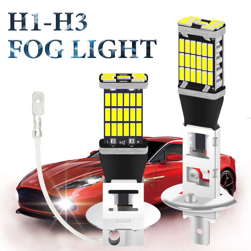 1pc voiture H1 led H3 led canbus 4014 super drl 26/45 LED queue phare antibrouillard feux diurnes 12V auto moto lampe |