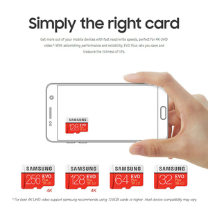 Image 5 - סמסונג זיכרון כרטיס EVO בתוספת 4K Ultra HD מיקרו SD 256GB 128G 64GB Class10 MicroSD כרטיס c10 UHS I Trans פלאש MicroSD כרטיס