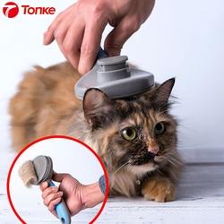 Tonke innovation kot domowy szczotka do usuwania włosów grzebień Pet narzędzia fryzjerskie do usuwania sierści trymer grzebień dla kotów dla psów koty w Inteligentny pilot zdalnego sterowania od Elektronika użytkowa na