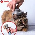 Tonke yenilikçi Pet kedi saç temizleme fırçası tarak Pet bakım araçları saç dökülme giyotin tarak kediler köpekler kediler için