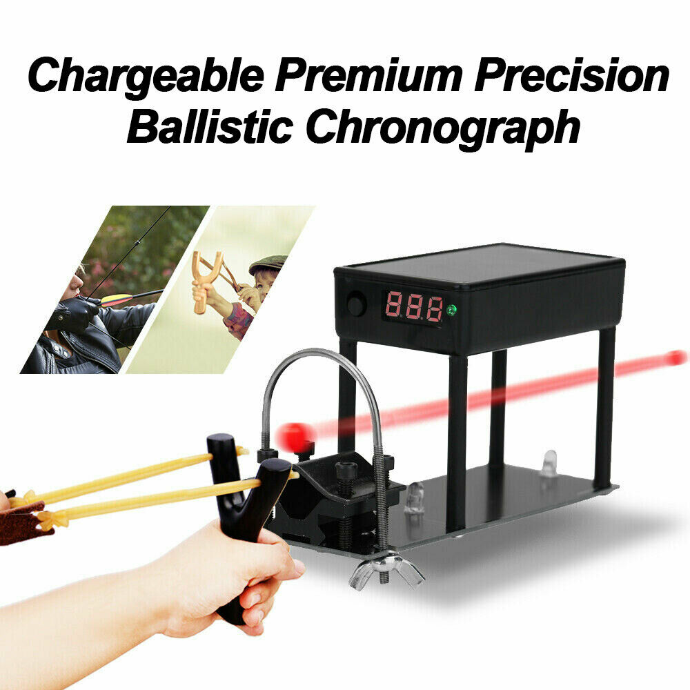 Premium Precision Ballistic Chronograph Bullet Arrow Velocity Chargeable Fixable For Shooting Speed Meter Ball Measurement