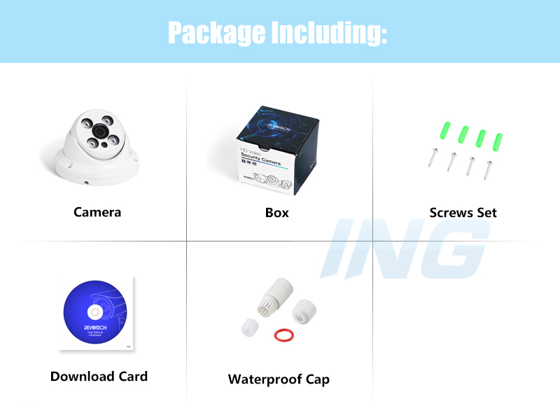Image 5 - H.265 Waterproof 3MP Array LED IR Dome IP Camera 1296P / 1080P Outdoor Security CCTV Cam Video Surveillance HD System-in Surveillance Cameras from Security & Protection
