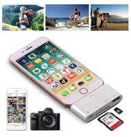 Lector de tarjetas OTG 4 en 1, Kit de conexión de cámara para iPhone X, XS, MAX, XR, 6, 7, 8, iPad, SD, TF, tarjeta de memoria, USB 2,0