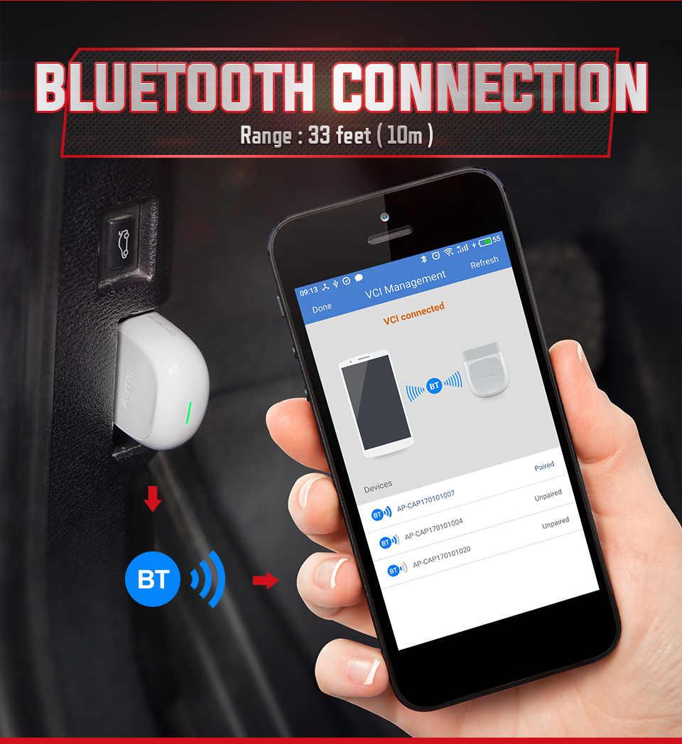 Autel AP200 OBD OBD2 Bluetooth Máy Quét Xe Công Cụ Chẩn Đoán OBDII Đầy Đủ Hệ Thống Ô Tô Máy Quét PK MK808 Thinkdiag Easydiag 3.0