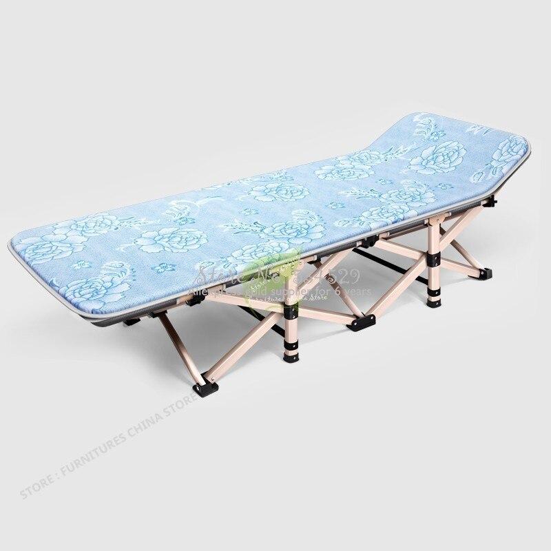38%, 75 см, складная кровать, одиночная, для дома, для взрослых, полдень отдыха, Сиеста, шезлонг, офисный, простой и легкий, более функциональный, ... - 3