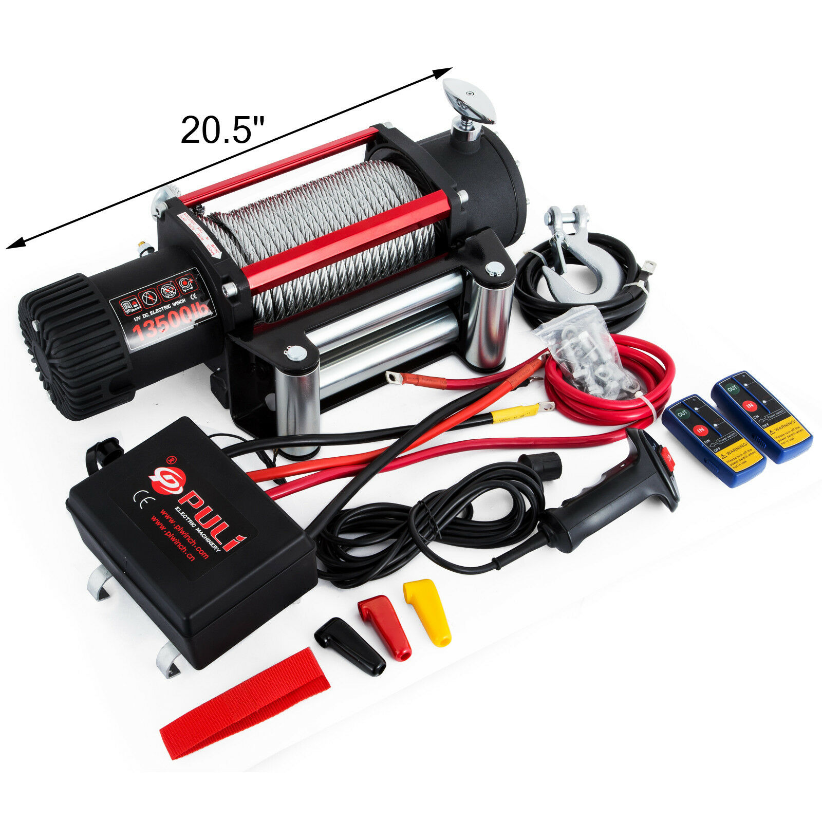 Image 3 - Electric Steel Rope Winch 12V 6120KG 13500lbs Remote Control 5KW Recovery (12V)Lifting Tools & Accessories   -
