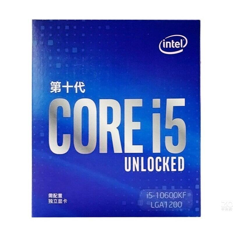 Процессор Intel Core i5 10600KF 4,1 ГГц шестиядерный двенадцатипоточный процессор 65 Вт LGA1200 новый и без вентилятора