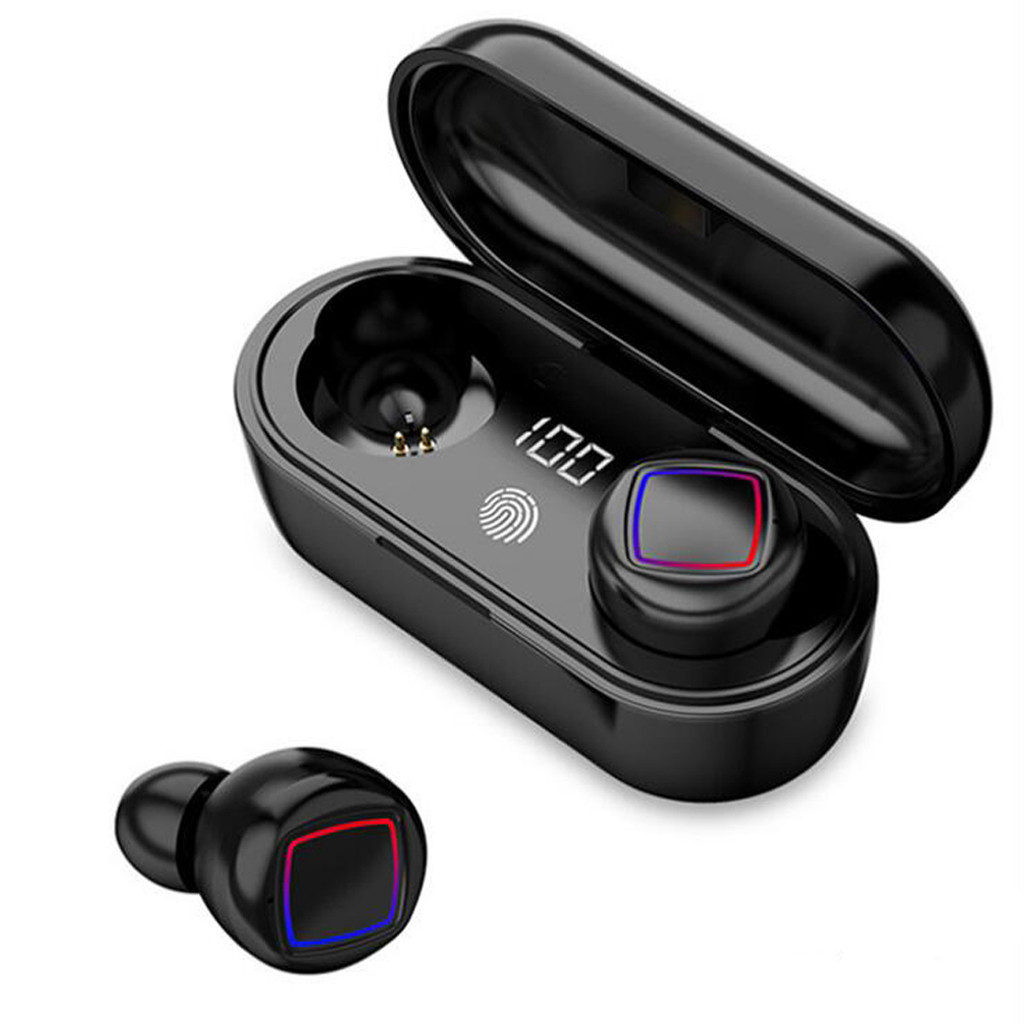 mosunx Wireless headset <font><b>TWS</b></font> mini real BT 5.0 stereo headset bass in-ear headsets <font><b>touch</b></font> noise reduction headsets image