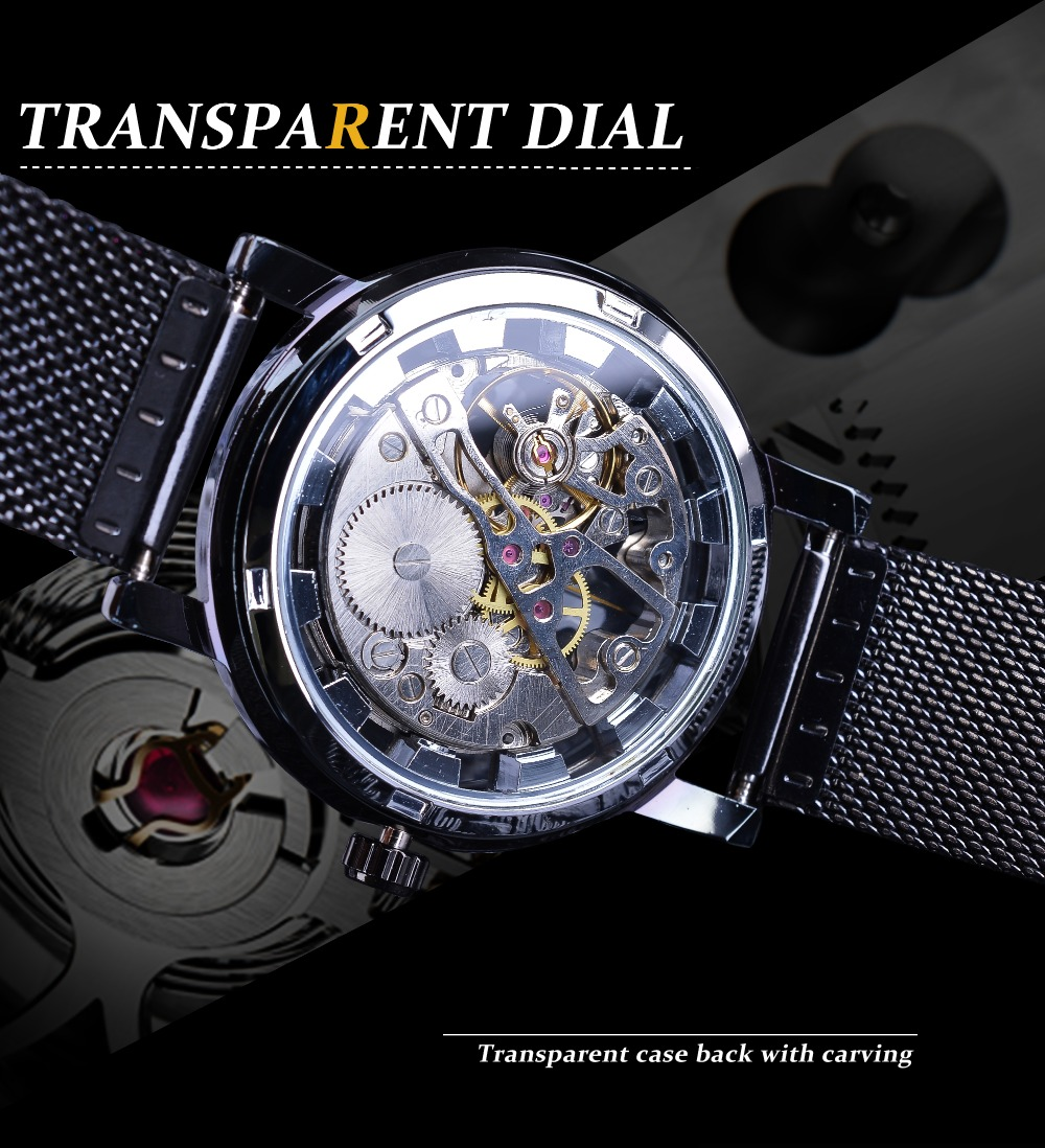 Hd49440ee5bc24dad86c573b57ca9c6dbo Winner Stainless Steel Mesh Band Transparent Classic Thin Case Hollow Skeleton Mens Male Mechanical Wrist Watch Top Brand Luxury