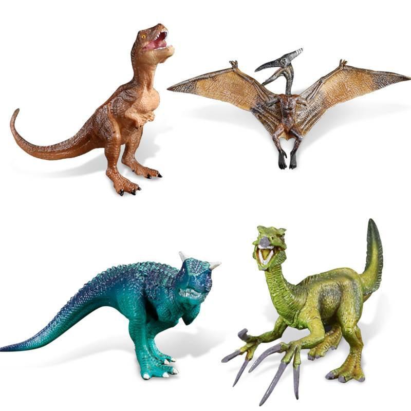 4 Kinds Classic Pterosaur Animal Figure Collectible Toys Dinosaur Action Figures Plastic Model Kids Cognitive Toys