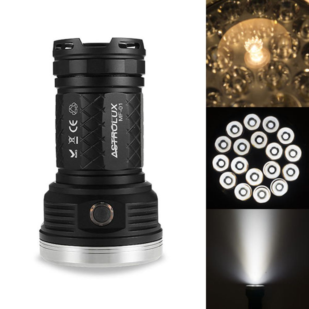 Astrolux 18x XP-G3 Nichia 219C 12000LM Torch Bright LED Flashlight Torch IPX-7 Waterproof Light For Outdoor Camping Portable