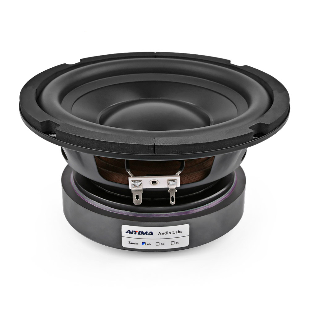 6.5 Inch Subwoofer <font><b>Speaker</b></font> Car Audio Bass <font><b>Speaker</b></font> 4 8 Ohm Peak 100W Hifi Woofer Loudspeaker for Car Sound System & Home Theater image