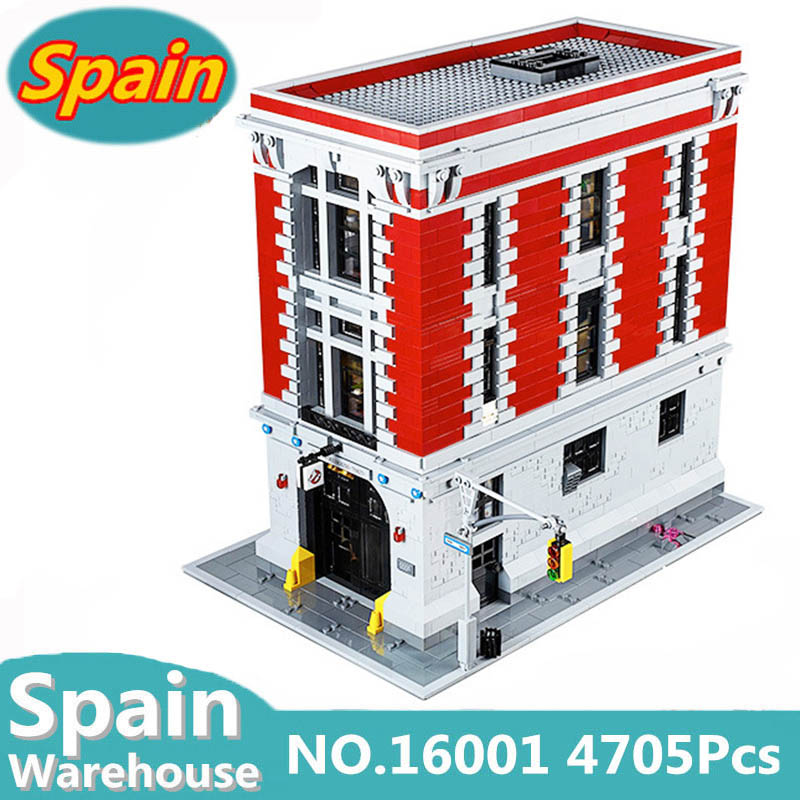 16001 16007 Ghostbusters Firehouse Headquarters Haunted House Building Blocks Set Movie Creator Architecture Bricks 75827 Toys