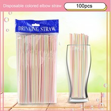 Straws Party-Supplies Drink Disposable Milk 100pcs for Home -40 Elbow-Material Lengthened