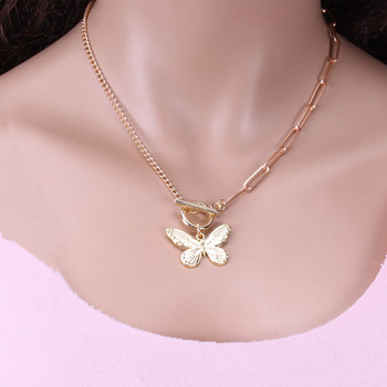 Europe and America Cross Border Ornament Non-mainstream Retro Butterfly Necklace Female AliExpress amazo Amazon Foreign Trade Ma image