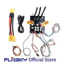 Recinto refrigerado por agua de alta corriente FSESC 200A 60V base en VESC6 e-scooter/skateboard controlador de velocidad eléctrico Flipsky