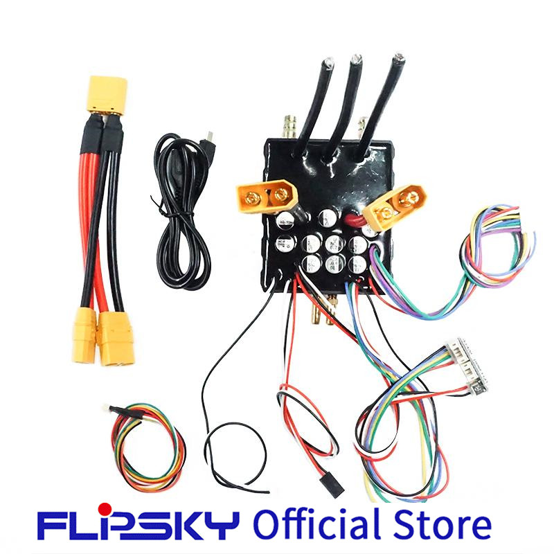 Water Cooled Enclosure High Current FSESC 200A 60V Base On VESC6 E-scooter/skateboard Electric Speed Controller Flipsky