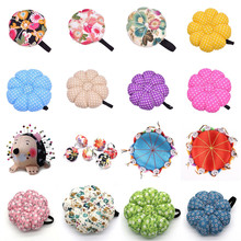 Pin-Cushion-Holder Sewing-Tools-Accessory Wood-Bottom Craft-Needle DIY with Home 1PCS
