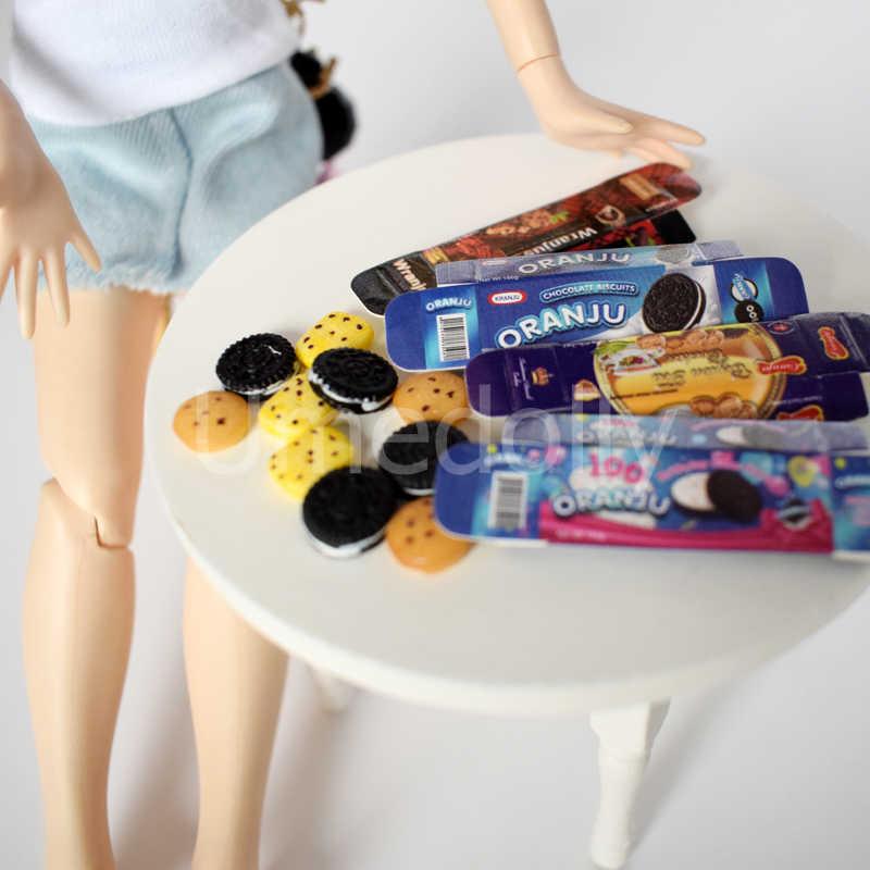 4 Box Simulation Mini Cookies na 1/12 1/6 skala miniaturowy domek dla lalek lalka jedzenie zagraj w akcesoria kuchenne węża