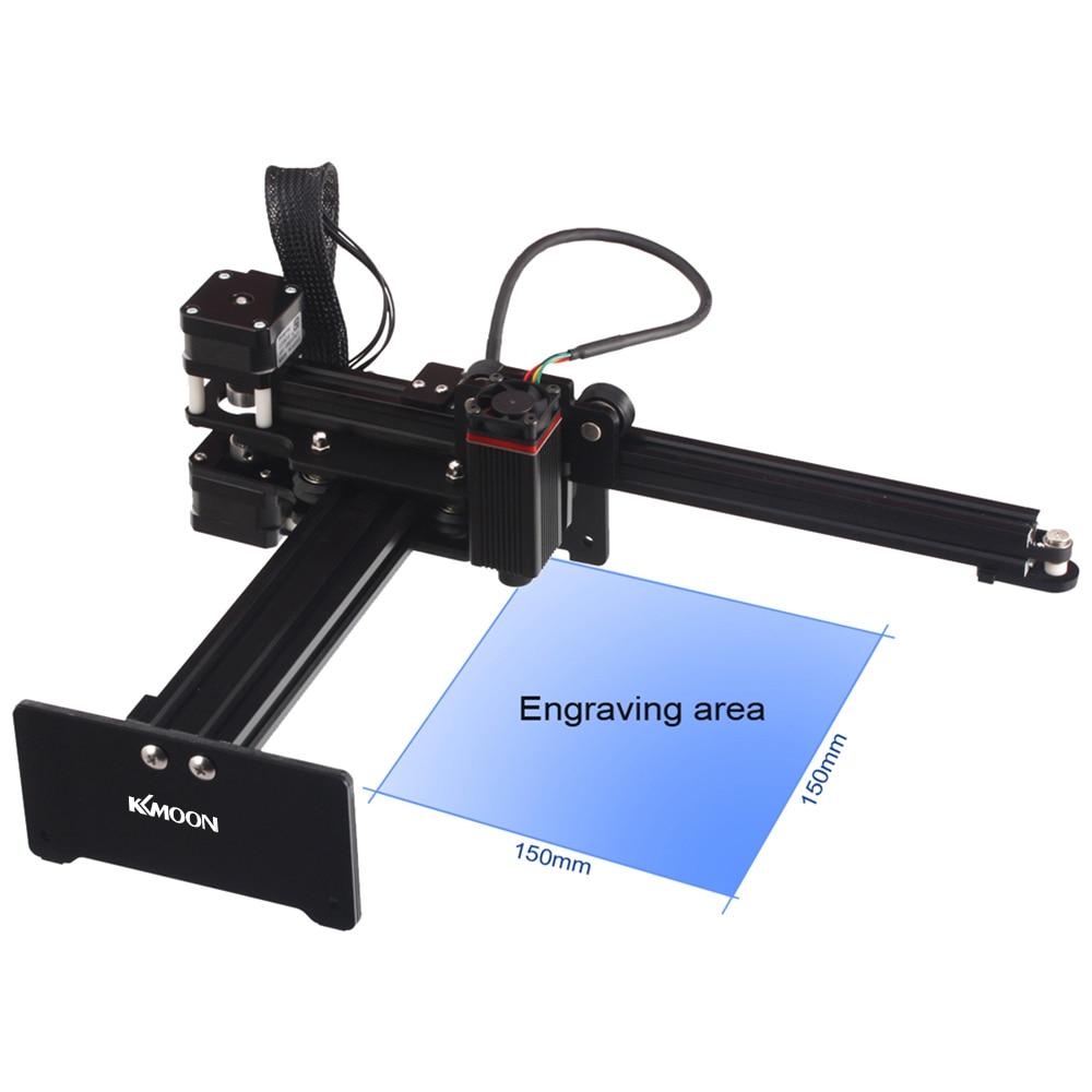 Kkmoon portátil 20000 mw diy máquina de gravura escultura desktop gravador a laser impressora mini carver para metal madeira gravura