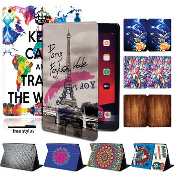 Protective Slim Leather Stand Tablet Case For Apple IPad 2/3/4 /Mini 1/2/3/4/5/Air 1/2/3 /Pro PU Leather Shockproof Case+Pen for ipad 2 3 4 5 6 7 air 1 2 3 pro 11 2018 2020 pu leather tablet stand folio cover ultra thin star colors slim case