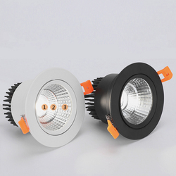 Round Dimmable Recessed COB LED Downlights 5W 7W 9W 12W 15W LED Ceiling Spot Lights AC85~265V LED Ceiling Lamps Indoor Lighting