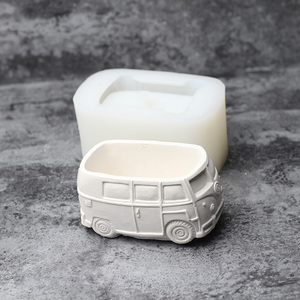 Image 5 - Cute Car Concrete Planter Mold Silicone Flowerpot Mould Handmade Cement Home Decoration Tool