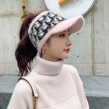 Женская Осенняя шерстяная шапка, зимняя модная Женская тканая теплая шапка, мягкая эластичная шапка для девочек, женская шапка