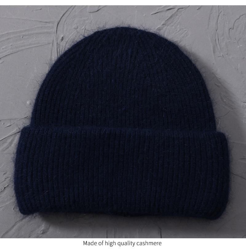 Women Cashmere Wool Knitted Hats  -  1mrk.com'