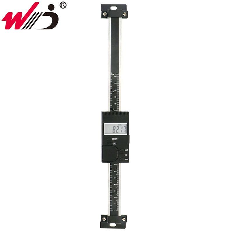 0-200mm Vertical type numérique linéaire échelle règle en acier inoxydable étrier échelle instrument de mesure
