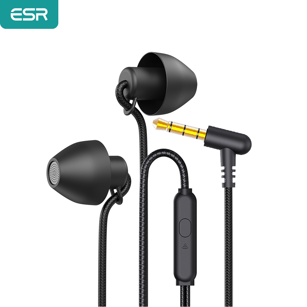 ESR 3 5mm Jack Earphones Headsets With Built-in Microphone Type-C Port In-Ear Stereo Earbuds Wired Earphone For Universal Cell
