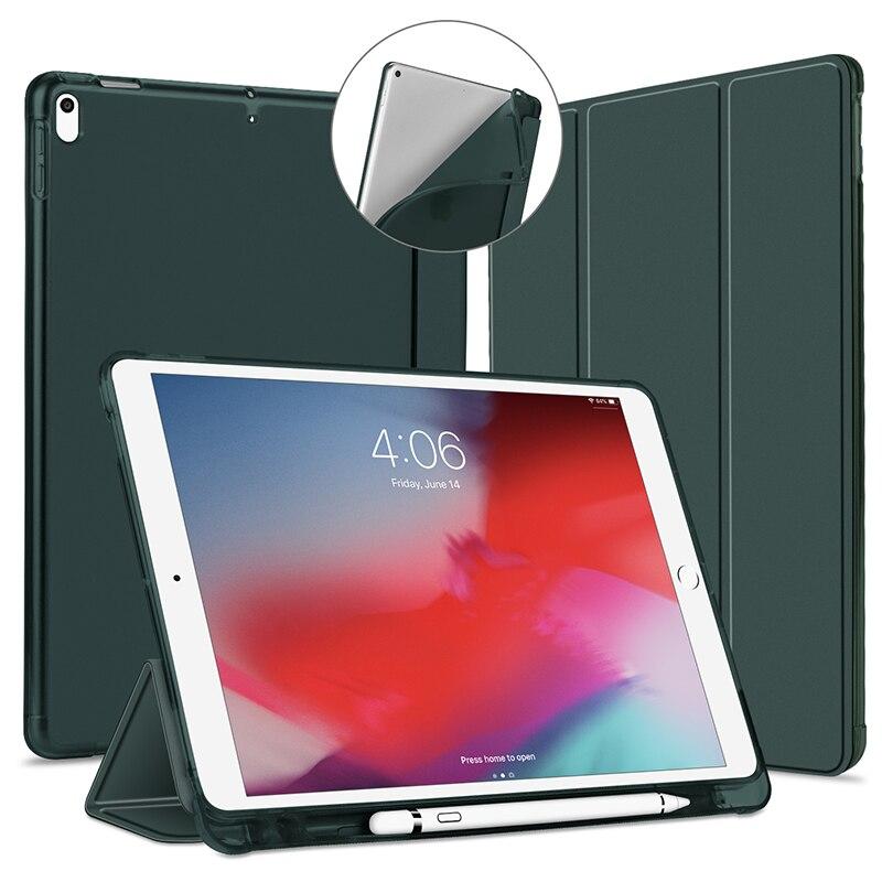 Bilgisayar ve Ofis'ten Tabletler ve e-Kitaplar Kutu'de IPad 2019 için kılıf 10.5 inç kılıf iPad Air3 pro 10.5 inç nesil kılıf Funda ince TPU silikon kabuk akıllı kapak iPad10.5 title=