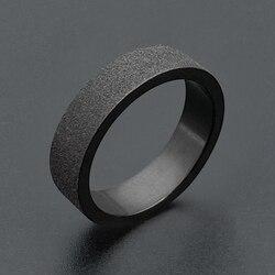 Korean Styles 6mm Stainless Steel Couple Rings For Women Simple Black Matte Ring Men Ladies Wedding Jewelry Wholesale Bulk Items