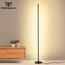 Скандинавский светодиодный напольный светильник с затемнением для гостиной прикроватный светильник для спальни прикроватный напольный светильник ing Stand лампа для помещений