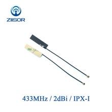 ארוך טווח 433MHz אנטנה פנימית לורה 433M FPC אנטנת IPX IPEX מודול האלחוטי לורה Omni DTU מקלט Antena TX433 FPC 3208