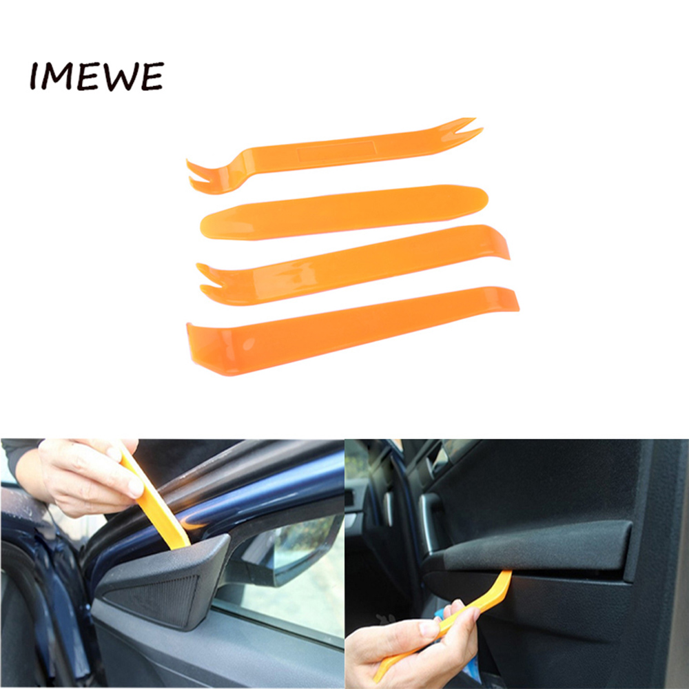 4pcs Portable Auto Interior Tool Radio Panel Door Clip Panel Trim Dash Audio Removal Installer Pry Kit Repair Tool(China)