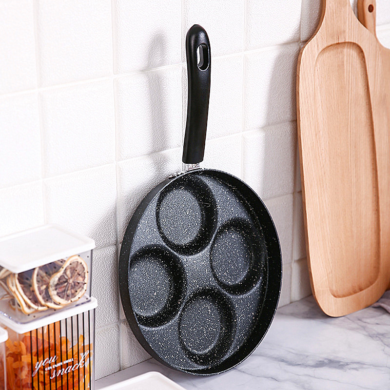 Cooking Pot Four-hole Omelet Pan For Eggs Ham PanCake Maker Frying Pans Creative Non-stick No Oil-smoke Breakfast Grill Pan