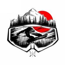 Màu Cá Tính Ván Trượt Tuyết Mặt Nạ Dán Xe Hơi Thời Trang Phụ Kiện Xe Hơi Chống Nước Trang Trí Thân Tạo Kiểu Kk13 * 12.5Cm