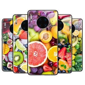 Szkło hartowane etui do Huawei Honor 8X 9X Pro 9X 10 20 Lite 20 30 Pro X10 5G pokrywa Capa świeże letnie owoce