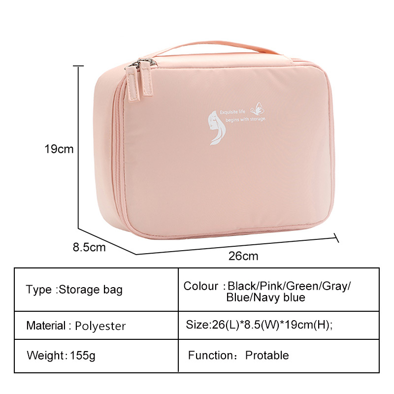 saco de higiene pessoal portátil ao ar