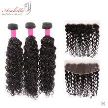 Mèches brésiliennes avec Lace Frontal-Arabella | Cheveux Remy naturels ondulés, nœuds décolorés, pre-plucked, avec Frontal