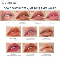 FOCALLURE PLUMPMAX Nourise Lip Glow High Shine&Shimmer Glossy Lips Makeup Non Sticky Plumping Lip Gloss 4