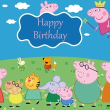 Peppa Pig Birthday Party Background Cloth Party Girls Boys Cartoon Backdrop Curtain Children's Party Supplies Decoration