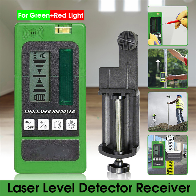 Laser Level Detector Receiver For Levelsure  Electronic Leveling 2/5/12 Lines Vertical Horizontal For Red/Green Light